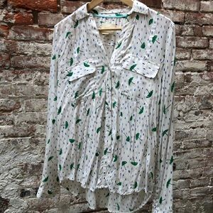 MAEVE Anthropologie umbrella button up blouse 10